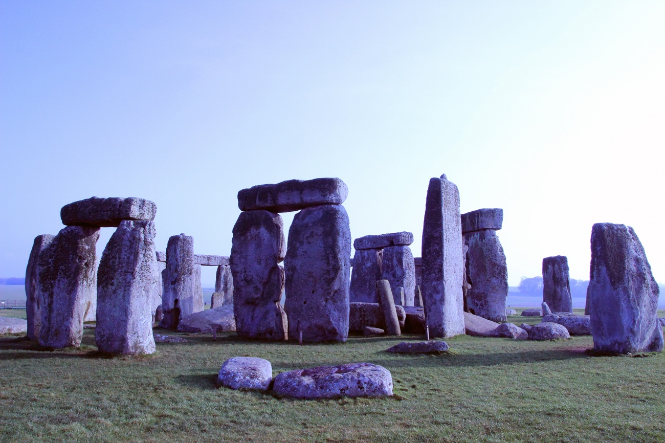 Free image: Stonehenge in the fog